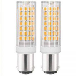 B15 Ampoule LED AC 220-240 V BA15D Ampoule LED 6 W 88 LED SMD - 690 lumens Blanc chaud 3000K - 70 W lampe halogène équivalent - double Connect baïonnette BA15D LED Maïs Lumière pour machine à coudre/Appliance lamps de la marque XIX image 0 produit