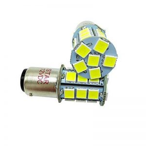 BA15D 11571142Super Lumineux 5050SMD 27LED du circuit intégré ampoules marine RV, tension de fonctionnement: 12VDC, 3.5W 500LM couleur: 6500K blanc (Paquet de 2) de la marque STAR image 0 produit