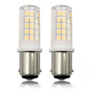 BA15D Ampoules LED, 220 V 6 W Ampoule Pygmée, Double Connexion à Baïonnette, Remplacer 60 W Machine à Coudre/Appliance Lamps Blanc Chaud 3000 K SBC Ampoule – Lot de 2 de la marque ZHENMING image 0 produit