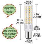 BA15D B15 B15D Ampoule LED, Energy Saver Culot BA15D 7.5W 937LM Equivalent 85W Ampoules halogènes/Incandescente blanc chaud 3000K, 360° angle de faisceau, 90-265V, Lot de 2 de la marque zozouk image 1 produit