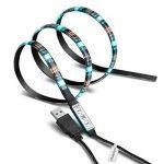Bande LED USB Rétroéclairage TV,Makion 100cm / 3.28ft multi-couleurs 30leds flexible 5050 USB RGB LED bande de lumière avec le câble USB 5v et Mini Controller pour TV / PC / ordinateur portable Rétro-éclairage de la marque Makion image 1 produit