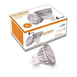 BAOMING Ampoules LED Spot GU4 Led MR11 35W halogène équivalent 12 V DC/AC 3 W 250lm 30 ° Angle de faisceau Blanc chaud 2700 K ampoules LED Lot de 6 unités de la marque BAOMING image 0 produit
