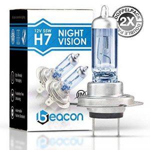 Beacon - H7 Night Vision Lampe de Phare, adaptée à Toutes Les Voitures avec Ampoules H7 et culot PX26D (12 V 55 W) pour Feux de Croisement et phares - Un Pack de Deux Lampes de la marque Beacon image 0 produit