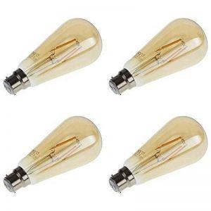 Biard - Pack de 4 Ampoules LED B22 6W à Filaments - Design Ambré Rétro de la marque Biard image 0 produit