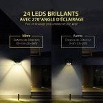 [Blanc Chaud] 24 LED Lampe Solaire Extétieur Etanche sans Fil Mpow Luminaire Exterieur 528 Lumens Détecteur de Mouvement avec Trois Modes Intelligents 270° Grand Angle / Eclairage Exterieur / Lampe Jardin / Spot Exterieur Pour Jardin, Escalier Exterieur, image 1 produit