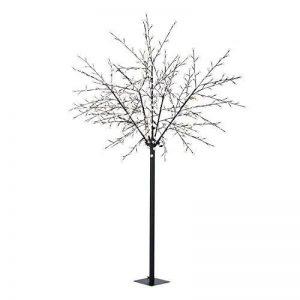 Blumfeldt Hanami WW 250 • Décoration de Noël • Arbre illuminé • Fleurs de cerisier • 600 LED • blanc chaud • faible consommation d'énergie • 2,5 m de hauteur • 10 m de câble • piédestal • noir de la marque Blumfeldt image 0 produit