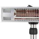 Blumfeldt Heat Guard Pro • Radiateur à poser • Chauffage radiant • Chauffage infrarouge • Chauffage de terrasse • 2 tubes halogènes dorés • 2 x 1500 watts •hauteur max : 30 cm • IP55 • argent de la marque Blumfeldt image 2 produit