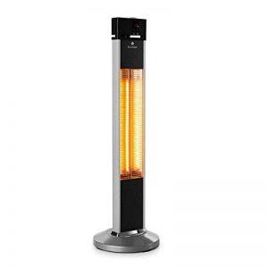 Blumfeldt Heat Guru • chauffage d'appoint • chauffage rayonnant • radiateur infrarouge • 3 niveaux 650, 1350 et 2000 W • protection IP34 éclaboussures et jets d'eau • télecommande • minuterie • argent de la marque Blumfeldt image 0 produit