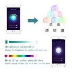 Boaz SmartLife E27,RGBW Couleur Changeable Dimmable Ampoule LED intelligente, télécommande partout Lumière intelligente WiFi, commande vocale Intelligent Bulb Compatible avec Alexa et Google Home ( 2 packs 7W Equivalent à 60 watts) de la marque BOAZ SMART image 2 produit