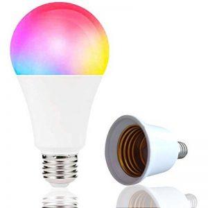 Boaz SmartLife E27,RGBW Couleur Changeable Dimmable Ampoule LED intelligente, télécommande partout Lumière intelligente WiFi, commande vocale Intelligent Bulb Compatible avec Alexa et Google Home ( 7W Equivalent à 60 watts) de la marque BOAZ SMART image 0 produit