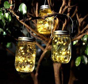 Bocaux solaires à ampoules LED pour jardin, patio, decoration intérieure ou de cérémonie - Lot de 2 de la marque Liyoung image 0 produit
