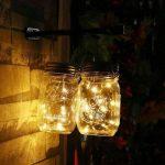 Bocaux solaires à ampoules LED pour jardin, patio, decoration intérieure ou de cérémonie - Lot de 2 de la marque Liyoung image 3 produit