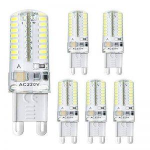 BOGAO 5 Pcs G9 Ampoule LED, 3W, équivalent à 20W Lampe halogène de remplacement, 250 LM, AC 220V, 64-LED 3014 SMD, blanc chaud (3000K) de la marque BOGAO image 0 produit
