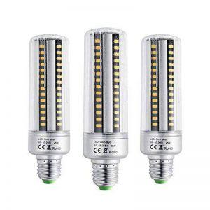 BOGAO E26/E27 96 LED 5736 SMD ampoules LED Ampoule de maïs, ampoules à incandescence, économie d'énergie Maison de remplacement de 25 W lampe avec housse 2000 lumens, AC230 V Panneau circulaire,pas dimmable (3 pcs, Blanc chaud),E27, 25.00 wattsW 230.00 vo image 0 produit