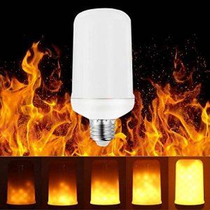 BOGAO E27 LED effet flamme Fire ampoules lumières, Creative avec lumière vacillante Emulation, Atmosphère rétro ampoules décoratives, simulée à gaz Lanterne Hurricane, Blanc chaud, 5 watts E27,1 pcs de la marque BOGAO image 0 produit