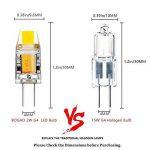 BOGAO G4 COB LED Ampoule, AC / DC 12V, 2W, 120-140LM, Blanc (6000K) Equivalent à 15W Lampe halogène Remplacement, Non-réglable, angle de faisceau de 360 degrés, Ampoule de projecteur en cristal, Lot de 5 de la marque BOGAO image 1 produit