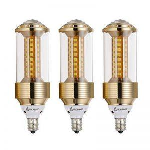 BOGAO Lot de 3 ampoules LED culot E14, 85-265 V, 15 W, équivalent 100-120 W blanc lumière du jour, 1500 lumens, pas dimmable (GJZT, 6000 K), blanc, E14, 15.00W 230.00V de la marque BOGAO image 0 produit
