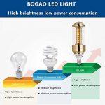 BOGAO Lot de 3 ampoules LED culot E14, 85-265 V, 15 W, équivalent 100-120 W blanc lumière du jour, 1500 lumens, pas dimmable (GJZT, 6000 K), blanc, E14, 15.00W 230.00V de la marque BOGAO image 4 produit
