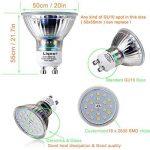 Bojim 6x LED Spots Encastrables Orientable GU10 Lampe de plafond Blanc Chaud Plafonnier Encastré 6W 600lm Equivalente de 54W Ampoule 30°orientable 120°d'éclairage 220V Rond Métal Nickel Non Dimmable de la marque Bojim image 4 produit