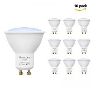 Bomcosy Ampoule LED GU10 7W, Blanc Froid 6000K, Spot à LED, Équivalent 60W, 600lm, L'angle d'émission de 120, Non Dimmable, Lot de 10 de la marque Bomcosy image 0 produit