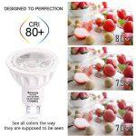 Bomcosy Ampoule LED GU10 Dimmable 6W Spot LED 540 Lumens Faisceau à 35° équivalent Ampoules Halogène 50W Blanc Froid 6000K Lot de 10 de la marque Bomcosy image 3 produit