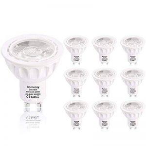 Bomcosy GU10 Dimmable Ampoules LED 6W Spots LED 540 Lumens Faisceau à 35° équivalent Halogène Ampoules 50W Blanc Chaud 3000K Lot de 10 de la marque Bomcosy image 0 produit