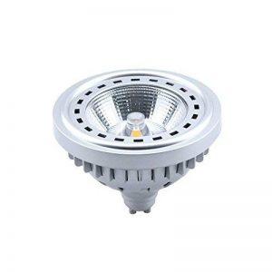 Bonlux 12W Dimmable Spot LED GU10 AR111 Projecteur à LED 220-240V Blanc Froid 6000K 24 Degrés Replacement de l'Ampoule Halogène 50-75W, CREE 1507 COB Puces, GU10 Ampoule LED pour chambre à coucher, salle à manger, salle de réunion, salon, salle d'expositi image 0 produit