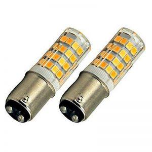 Bonlux 2-PCS 220V Ba15d lumière LED ampoule 4W Blanc Froid 6000K 35W équivalent Double brancher ampoule de LED Ba15d baïonnette SBC pour Machine à coudre/appareil lampes (4 watts, blanc froid) de la marque Bonlux image 0 produit