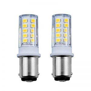Bonlux 3.5 W Ba15d LED Ampoule Lampe AC/DC 24V 350 lumen 360 degrés Double contact Ampoules pour voiture, navires,remorque, l'éclairage intérieur(2-pcs,blanc froid 6000k) de la marque Bonlux image 0 produit