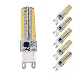 Bonlux 5-PCS G9 5W Dimmable Ampoule LED Blanc chaud 3000K 220V remplacement d'halogène 40W SMD G9 Bi Pin pour armoire Lumière, ventilateur de plafond, éclairage de paysage de la marque Bonlux image 0 produit
