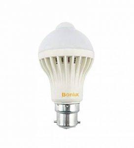 Bonlux 5W B22 BC PIR Capteur de Mouvement Infrarouge Ampoule LED Cool White 6000K A19 A60 GLS Baïonnette éclairage LED automatique ampoule 50W halogène de remplacement de la marque Bonlux image 0 produit