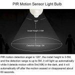 Bonlux 5W B22 BC PIR Capteur de Mouvement Infrarouge Ampoule LED Cool White 6000K A19 A60 GLS Baïonnette éclairage LED automatique ampoule 50W halogène de remplacement de la marque Bonlux image 3 produit