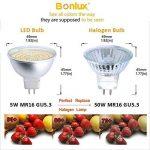 Bonlux 5W MR16 GU5.3 LED Ampoule Blanc Chaud 3000K AC/DC 12V-24V Input 120 Degrés Remplacement de l'Ampoule Halogène 50W, Non-Dimmable GU5.3/GX5.3 LED Projecteur pour Éclairage de Piste Encastré (5-Pcs) de la marque Bonlux image 4 produit