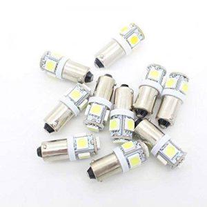 BoomBoost10 pcs 5SMD 5050 LED T11 BA9S Blanc T4W 182 1445 H6W 53 Voyants de voiture Ampoule Lampe de cale Car Wedge Light de la marque BoomBoost image 0 produit