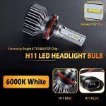 BOSWEE H11 72W 7800LM LED Phare Auto Car Lampe Feux Conversion Ampoule Light 6500K - 3 ans de garantie de la marque BOSWEE image 3 produit