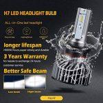BOSWEE H7 72W 7800LM LED Phare Auto Car Lampe Feux Conversion Ampoule Light 6500K - 3 ans de garantie de la marque BOSWEE image 4 produit