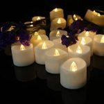 Bougies LED chauffe-plats, flamme vacillante sans flamme Bougies, réaliste à piles Faux Bougie avec Blanc chaud ampoule lumière blanc chaud de la marque chenyu image 3 produit
