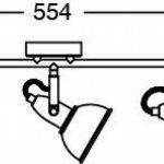 Briloner Leuchten 2049-032 Plafonnier 3 spots pivotants - luminaire style vintage - métal satin & blanc - 3 douilles E14 - 40 W max. - 55.4 x 10 x 18.1 cm de la marque Briloner Leuchten image 4 produit