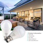 Brizled Ampoules LED B22 (Lot de 6), Ampoules à Baïonnette A60 8W Équivalent Ampoule Incandescente 60W, 800LM 3000K Lumière Blanc Chaud, Ampoules à Économie d'énergie Non-Dimmable de la marque Brizled image 4 produit