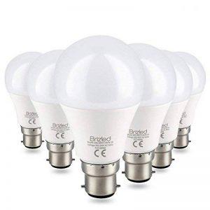 Brizled Ampoules LED B22 (Lot de 6), Ampoules à Baïonnette A60 8W Équivalent Ampoule Incandescente 60W, 800LM 4000K Lumière Blanc, Ampoules à Économie d'énergie Non-Dimmable de la marque Brizled image 0 produit