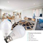 Brizled Ampoules LED B22 (Lot de 6), Ampoules à Baïonnette A60 8W Équivalent Ampoule Incandescente 60W, 800LM 4000K Lumière Blanc, Ampoules à Économie d'énergie Non-Dimmable de la marque Brizled image 3 produit
