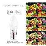 BRTLX Ampoules Bougie LED B22 7 W Equivalence Incandescence 60W Ampoule Baïonnette 560LM Blanc Froid 6000K Givré Non Dimmable Lot de 4 [Classe énergétique A+] de la marque BRTLX image 2 produit