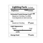 BRTLX Ampoules LED Standard Culot B22, A60 13W équivalent 100W, Blanc Chaud 3000K, Dépolie, Lot de 4 de la marque BRTLX image 4 produit