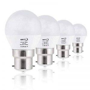 BRTLX Ampoules LED Standard Culot B22, G45 5W équivalent 45W, Blanc Froid 6000K, Dépolie, Lot de 4 de la marque BRTLX image 0 produit
