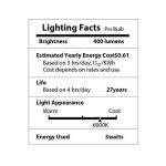 BRTLX Ampoules LED Standard Culot B22, G45 5W équivalent 45W, Blanc Froid 6000K, Dépolie, Lot de 4 de la marque BRTLX image 4 produit