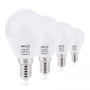 BRTLX Ampoules LED Standard Culot E14, G45 5W équivalent 45W, Blanc Chaud 3000K, Dépolie, Lot de 4 de la marque BRTLX image 0 produit