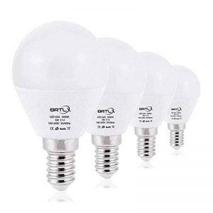 BRTLX Ampoules LED Standard Culot E14, G45 5W équivalent 45W, Blanc Froid 6000K, Dépolie, Lot de 4 de la marque BRTLX image 0 produit