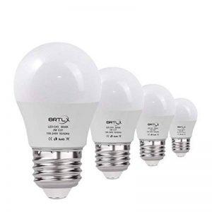 BRTLX Ampoules LED Standard Culot E27, 3W équivalent 25W, Blanc Chaud 3000K, Dépolie, Lot de 4 de la marque BRTLX image 0 produit