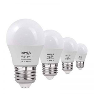 BRTLX Ampoules LED Standard Culot E27, 5W équivalent 45W, Blanc Chaud 3000K, Dépolie, Lot de 4 de la marque BRTLX image 0 produit
