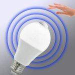 BRTLX E27 Ampoules LED PIR Infrarouge Détecteur de Mouvement 1040LM 13W A60 E27 220V Blanc Froid 6000K Auto on/off pour Escaliers Garage Couloir Lot de 2 de la marque BRTLX image 1 produit